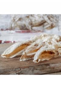 Kaninchenohren mit Fell getrocknet