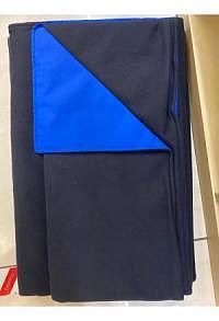 Chillydogs Alpin Decke Blau/Schwarz Microfleece